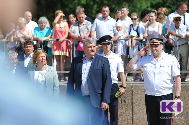 Сергей Гапликов и Виктор Половников поздравили личный состав МВД с 95-летием органов внутренних дел Коми