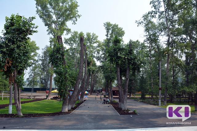 Работы по реконструкции Кировского парка в Сыктывкаре опережают график