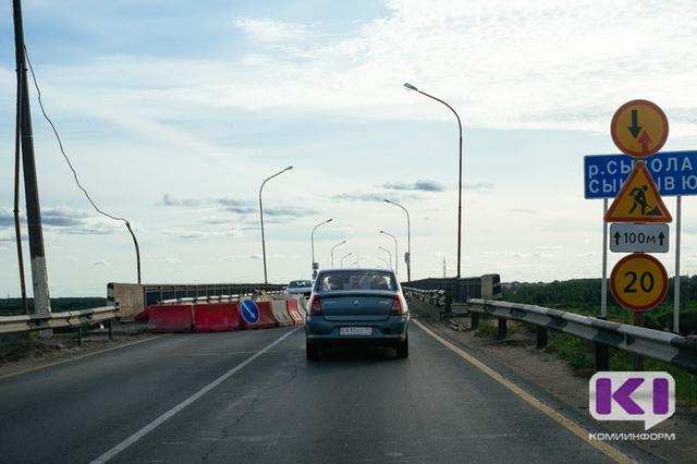 Минстрой Коми: Работы на краснозатонском мосту в Сыктывкаре будут завершены к концу августа