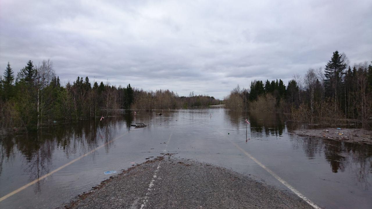 Автодорога Усинск-Колва закрыта