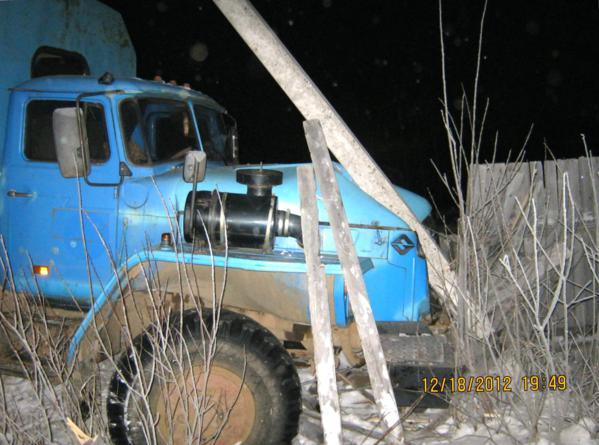 По вине водителя УРАЛа часть Микуня оказалась обесточенной в 30-градусный мороз