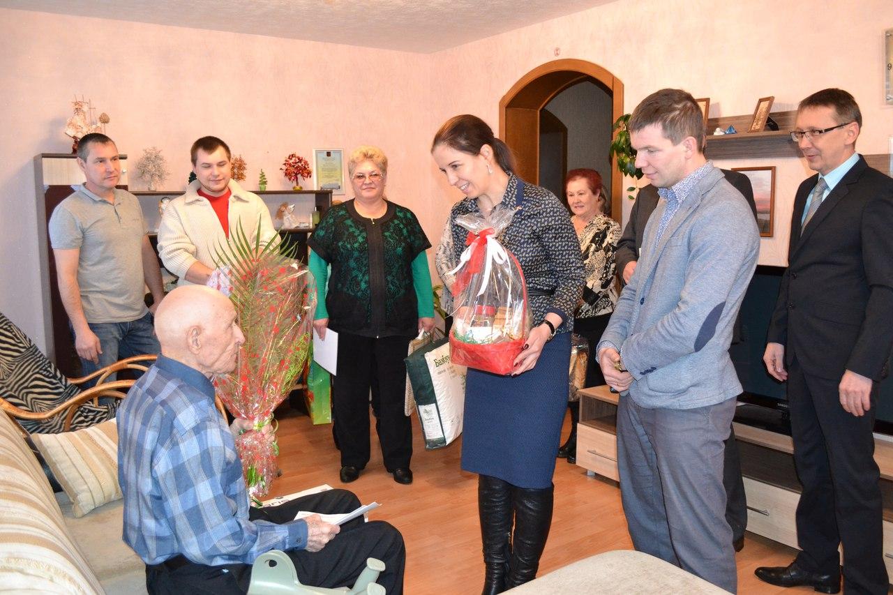 В Сыктывдине отметили 100-летие ветерана Великой Отечественной войны