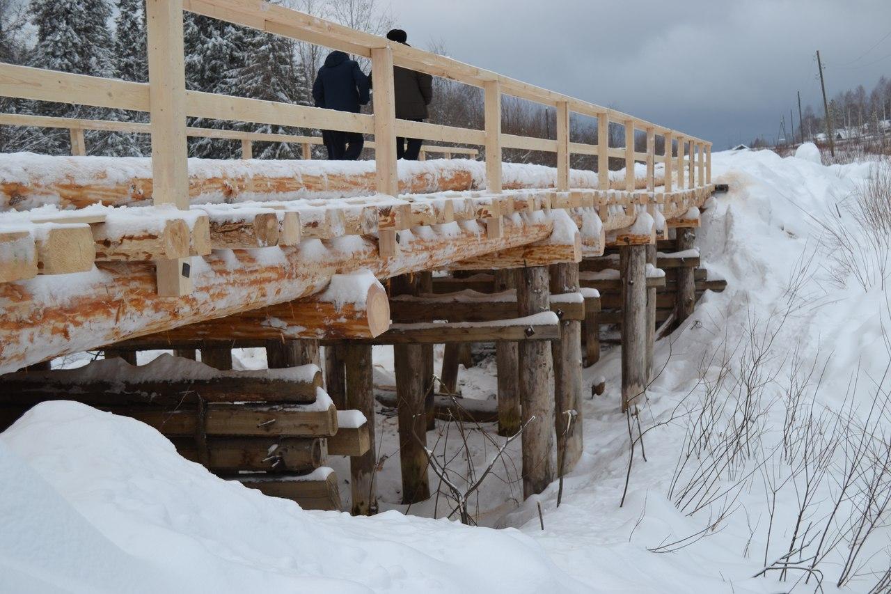 В Сыктывдинском районе построили новый мост