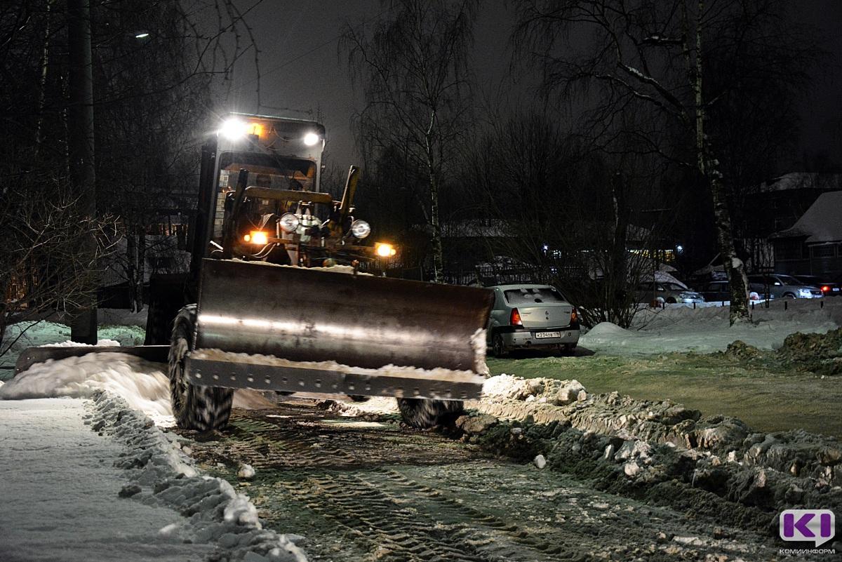 Минувшей ночью с улиц Сыктывкара вывезено 4 тыс. кубометров снега