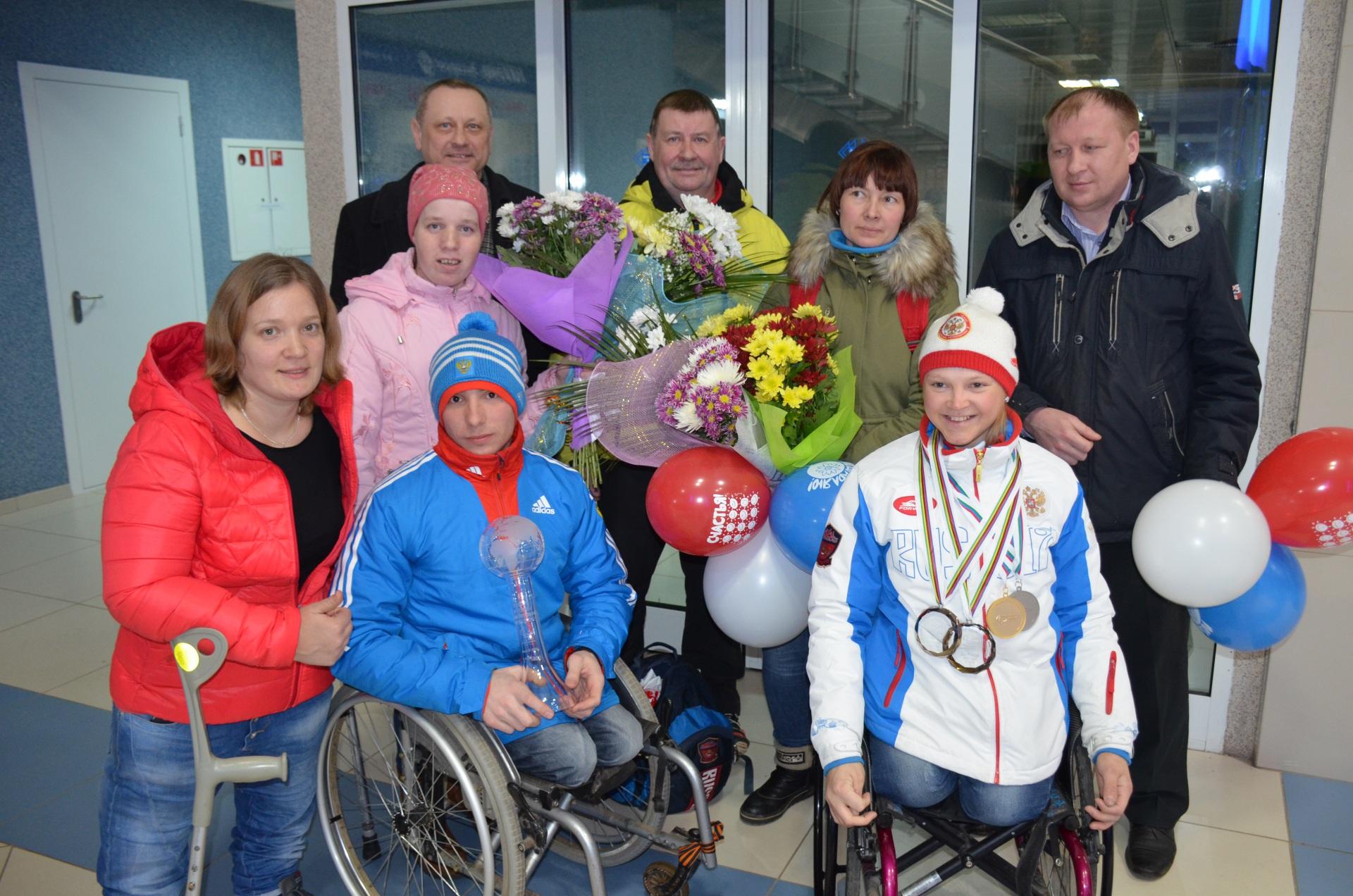 В Сыктывкаре встретили Ивана Голубкова и Марию Иовлеву