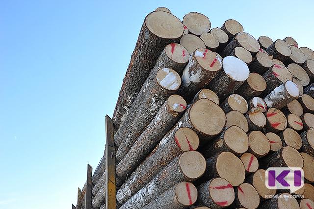 В Усть-Куломском районе дорожная полиция развернула колонну большегрузов с лесом