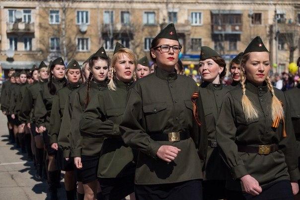 На 9 мая по Ухте вновь пройдет женский батальон