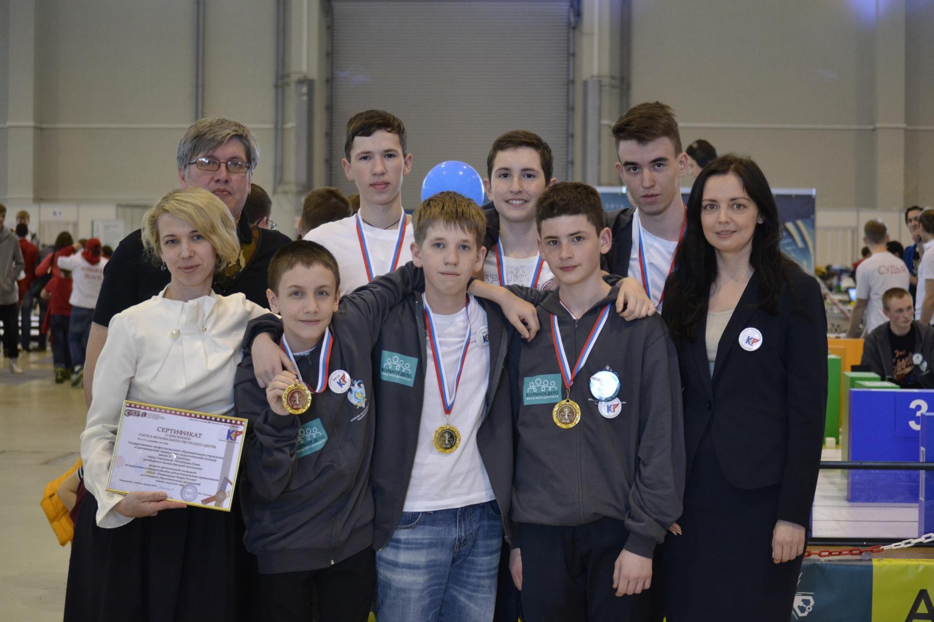 Сыктывкарские школьники заняли первое место на всероссийских соревнованиях по робототехнике