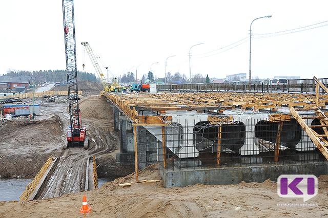 Первая очередь реконструкции моста через реку Човью в Сыктывкаре будет завершена к юбилею республики