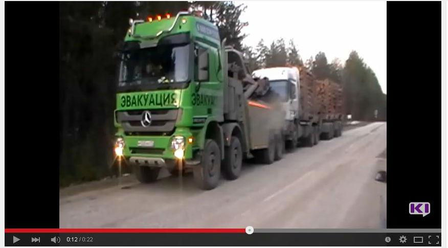 В Коми большегрузы с лесом эвакуируют на штрафстоянку