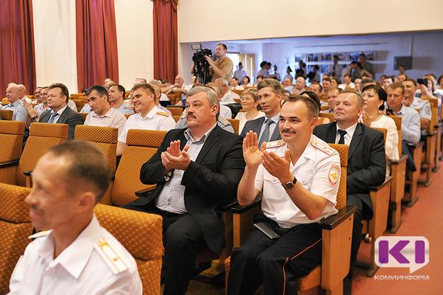 В столице Коми чествовали сотрудников ГИБДД