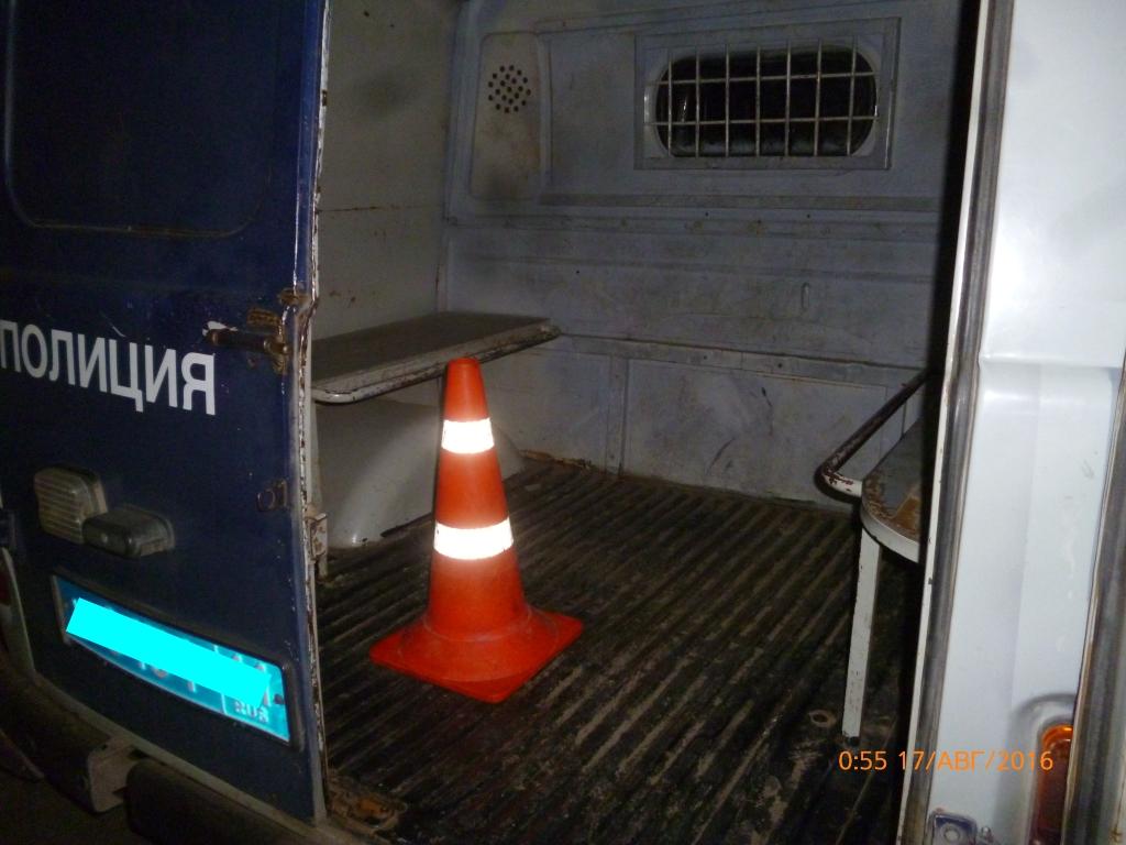 В Сыктывкаре в полицейской машине травмировался задержанный