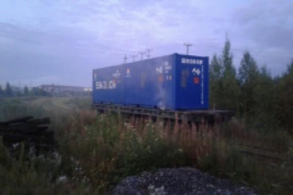 В Микуни вторая платформа с хлором перебазирована на тупик к первой