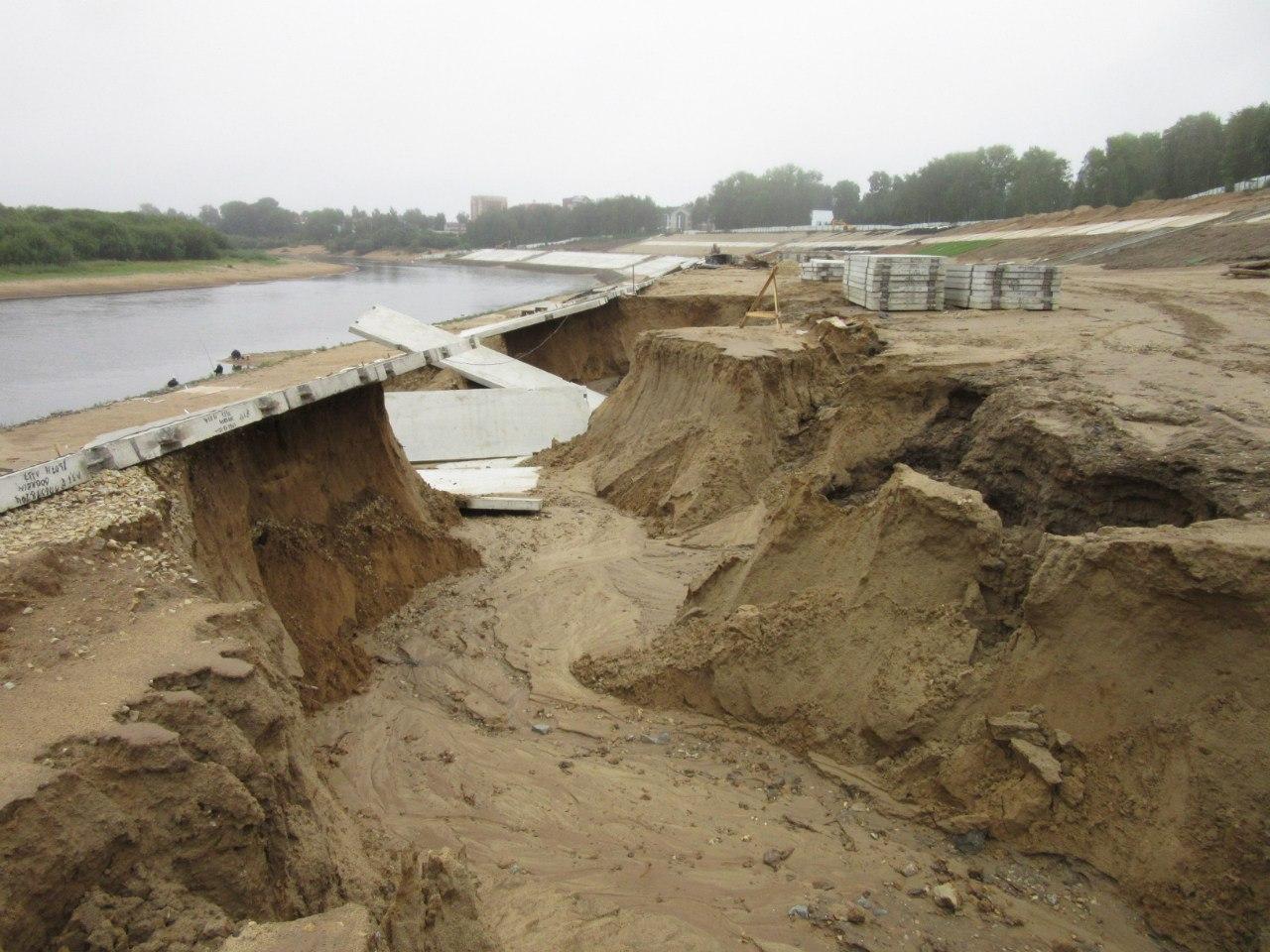 Последствия потопа на недостроенной набережной в Сыктывкаре устранены