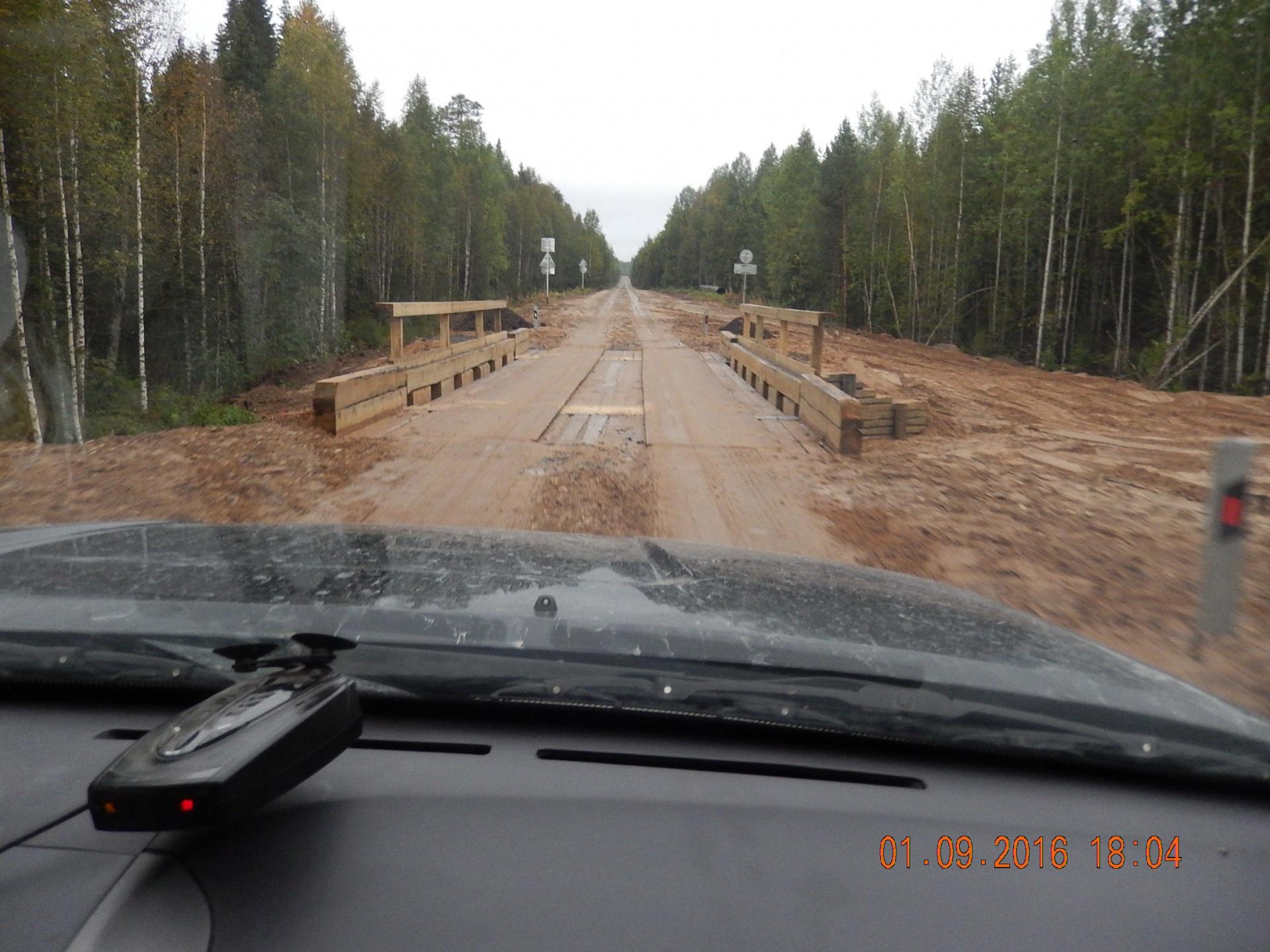В Удорском районе завершен ремонт первого из четырех мостов на участке Ёдва — Вожский