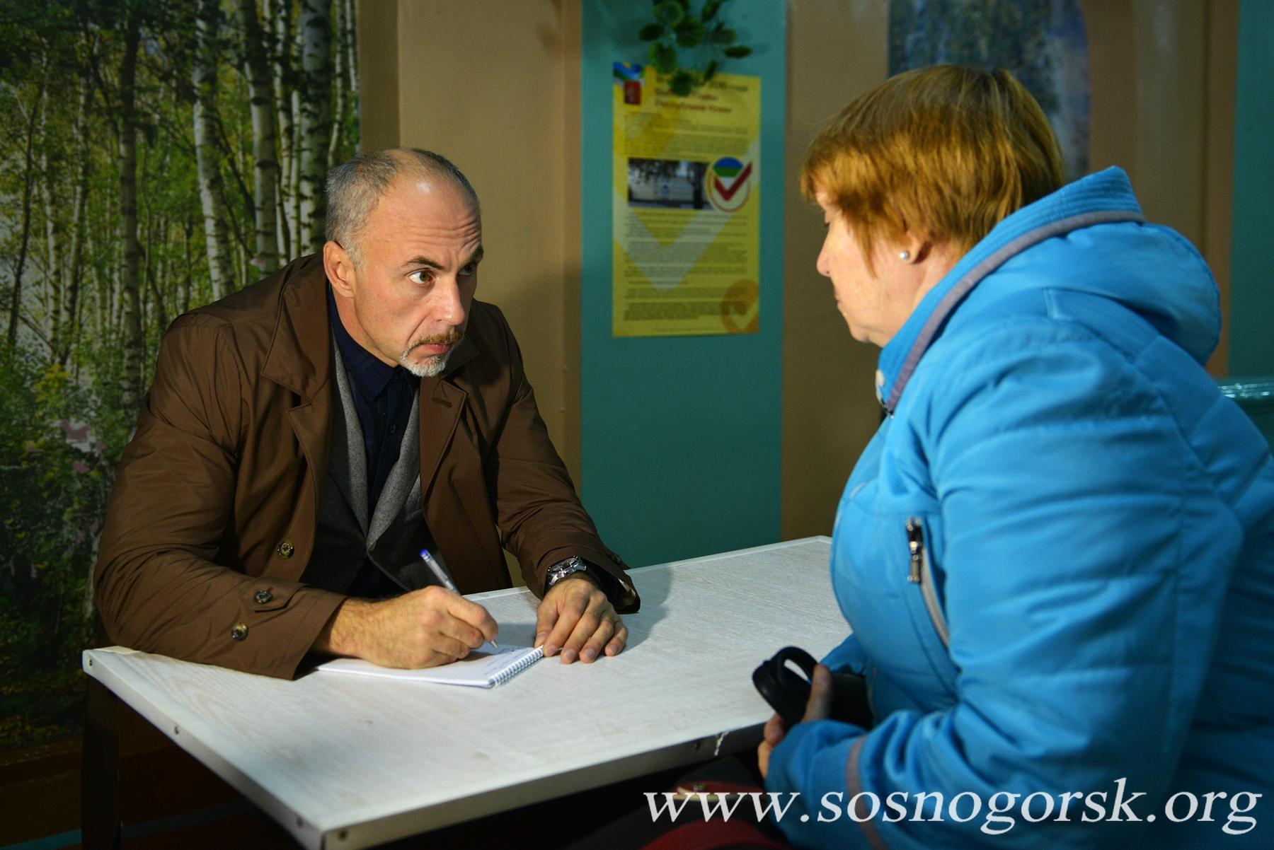 В день выборов сосногорцы  смогли не только проголосовать, но и получили возможность обратиться к депутатам  напрямую