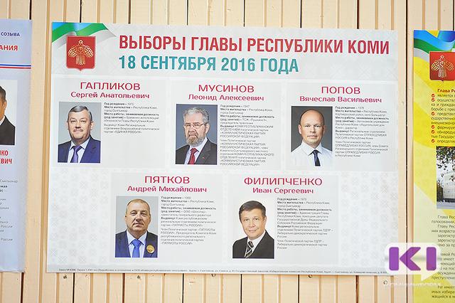 Первые результаты выборов главы и в Госдуму в Коми: лидирует Сергей Гапликов и