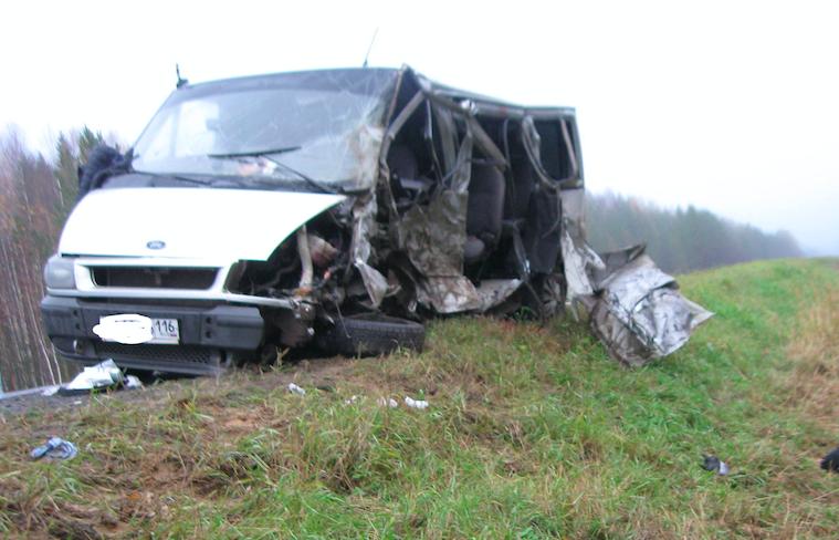 Гражданин Башкирии умер вавтокатастрофе савтобусом вКоми