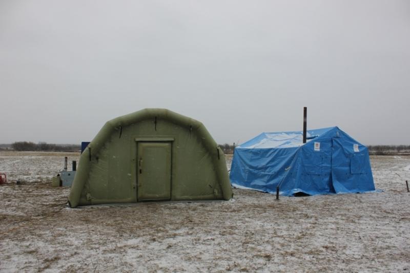 Мобильные пункты обогрева развернуты натрассе М-20 вПсковской области