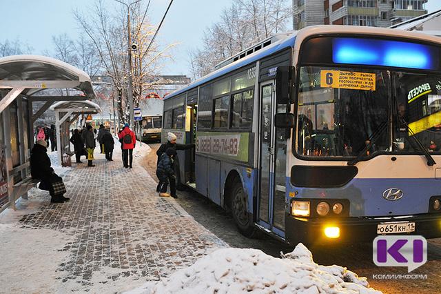 Мэрия Сыктывкара принимает меры по фактам нарушений графика движения автобусов в праздничные дни