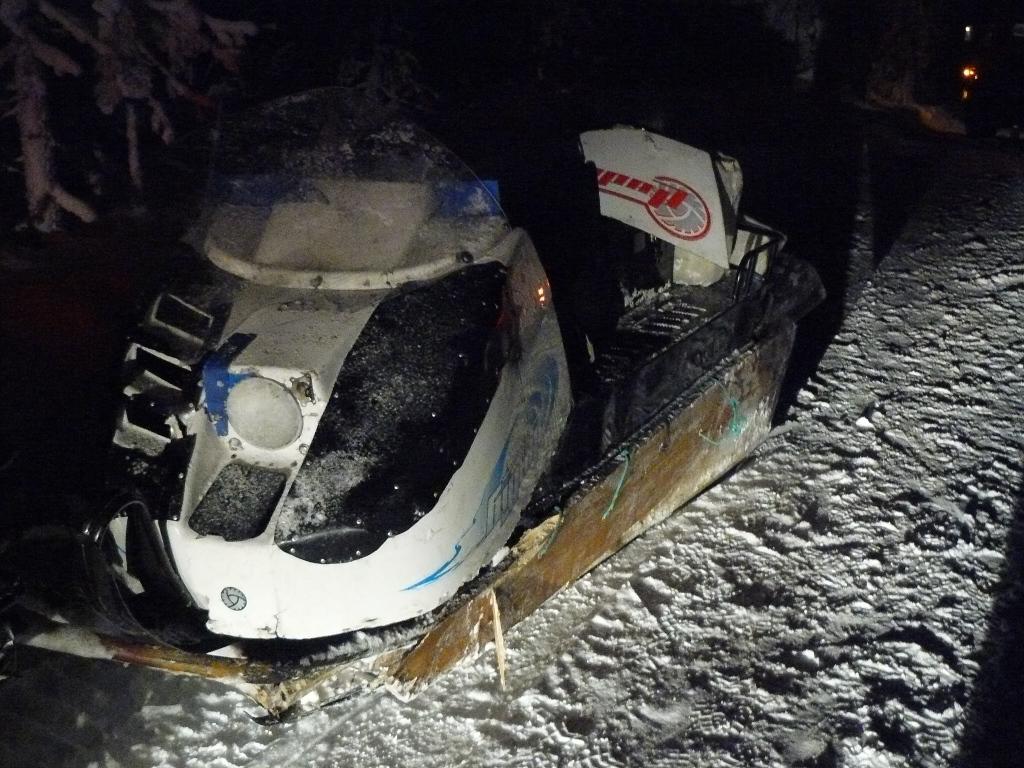 Шофёр снегохода умер вУсинском районе