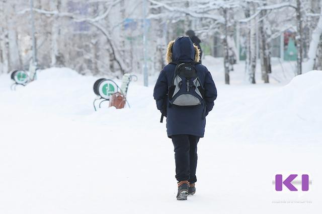 В школах Сыктывкара из-за мороза отменены занятия