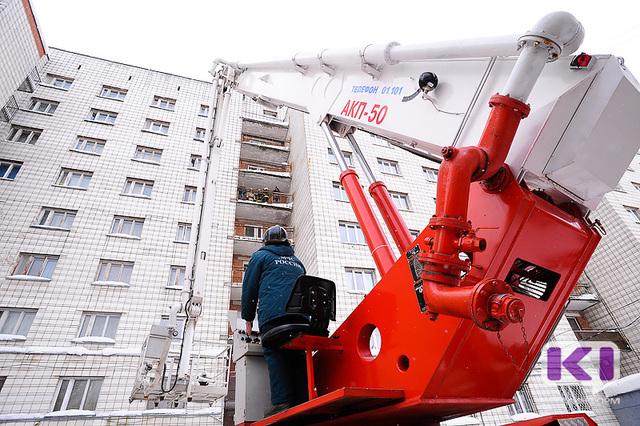 В общежитии СГУ в центре столицы Коми прошли пожарные учения