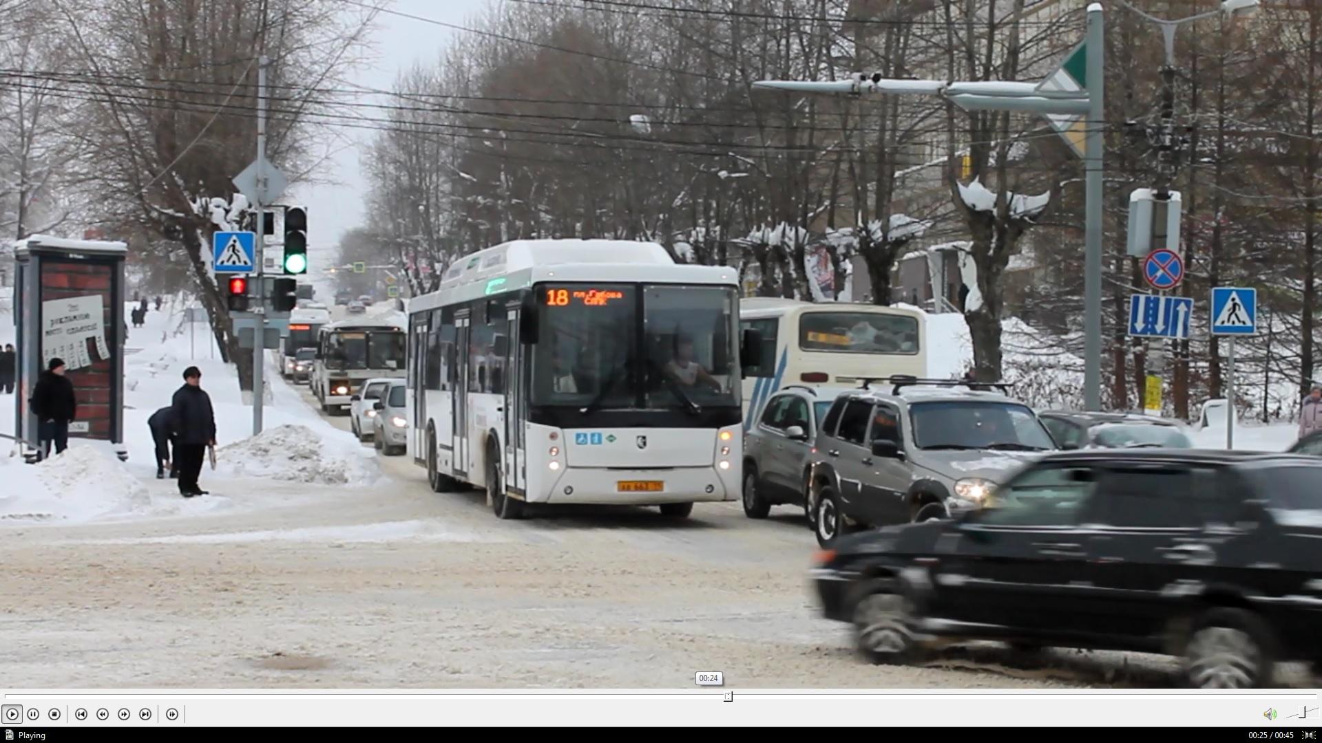 Водители автобусов в Сыктывкаре систематически нарушают ПДД