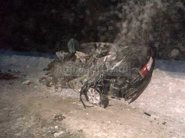 ВКотласском районе умер шофёр легковушки, столкнувшейся стягачом