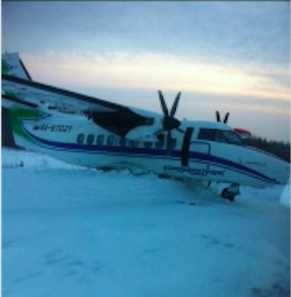 Пассажирский самолет выкатился за пределы взлетной полосы в Вуктыле по вине пилотов