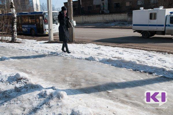 В Сыктывкаре на прошлой неделе 164 человека пострадали от уличных травм