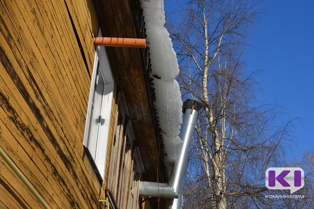 В Сыктывкаре в ходе проверки по очистке крыш от снега выявлены нарушения