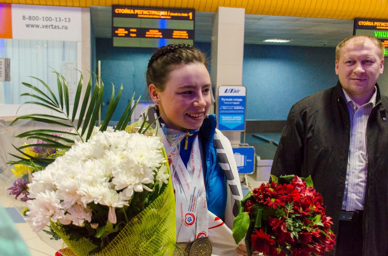 Глава Коми поздравил Лилию Шепиленко с победой на Всемирной зимней Специальной олимпиаде