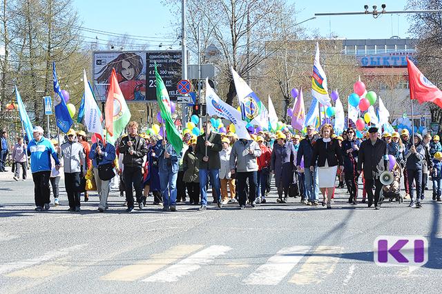 Первомайское шествие профсоюзов Коми пройдет по главной улице Сыктывкара