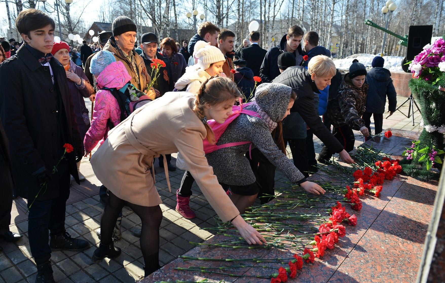 В Год добрых дел жители Сосногорска заступили на вахту памяти
