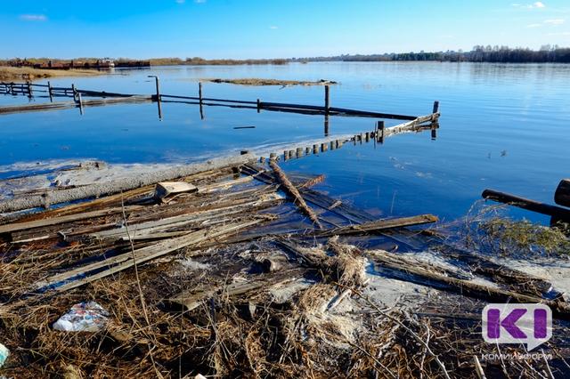 Уровень воды в Сысоле приблизился к максимальным значениям