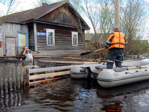 На реках Уса, Колва и Печора начался спад воды