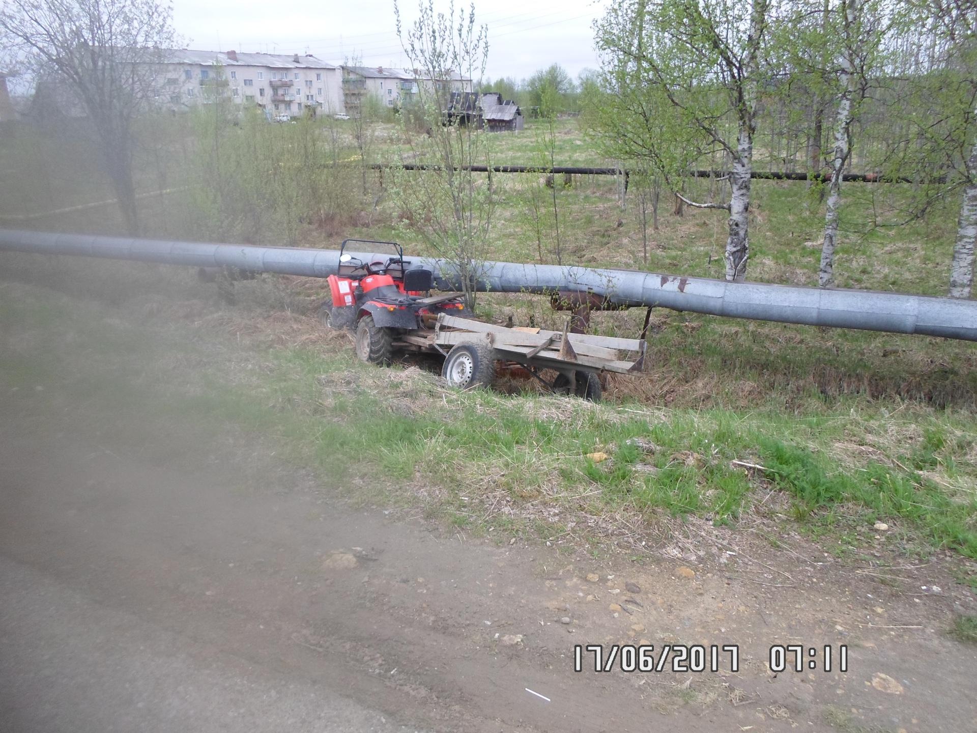 В ДТП на квадроцикле в Сосногорском районе погибла женщина
