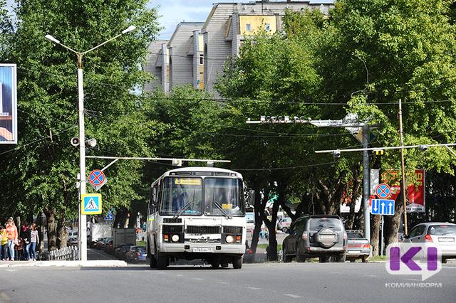 В Сыктывкаре временно изменяется движение автобусов на части городских маршрутах