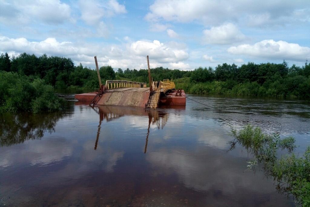 В Прилузском районе устраняются последствия ливневого паводка