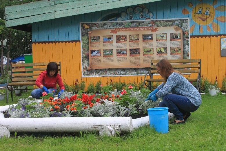 Специалисты центра занятости Сыктывкара помогли благоустроить детсад