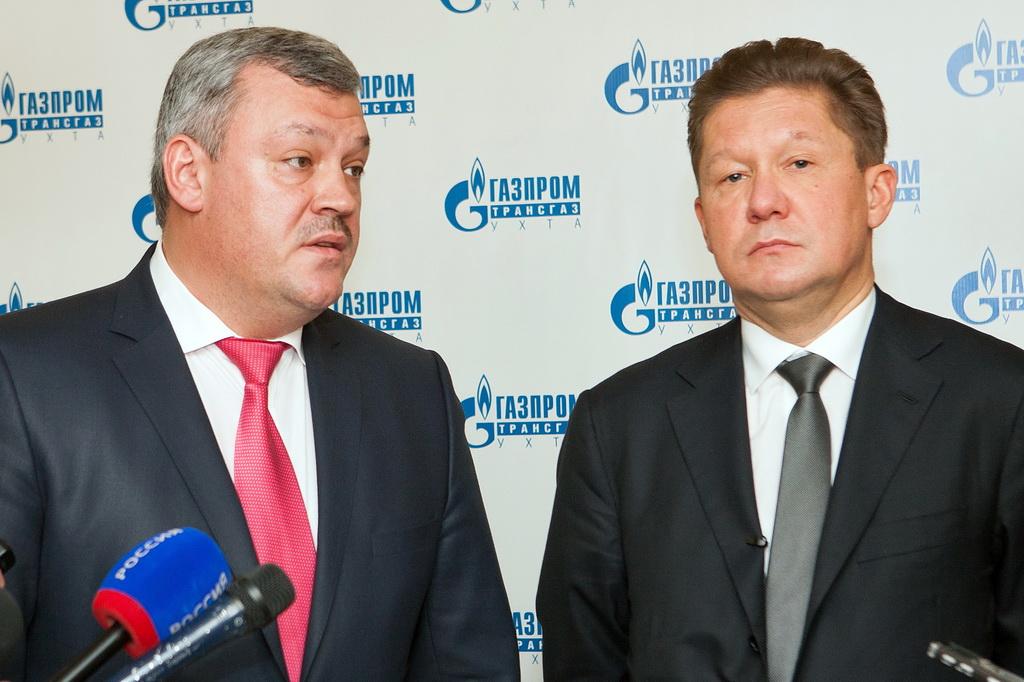 Сергей Гапликов и Алексей Миллер сверили часы сотрудничества