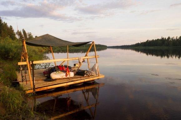 Как это было: рассказ туристов о сплаве на плоту по реке Мезень в Удоре