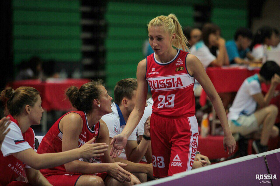 Баскетболистки России с сыктывкаркой Лидией Петиной в составе стали четвертыми на Универсиаде