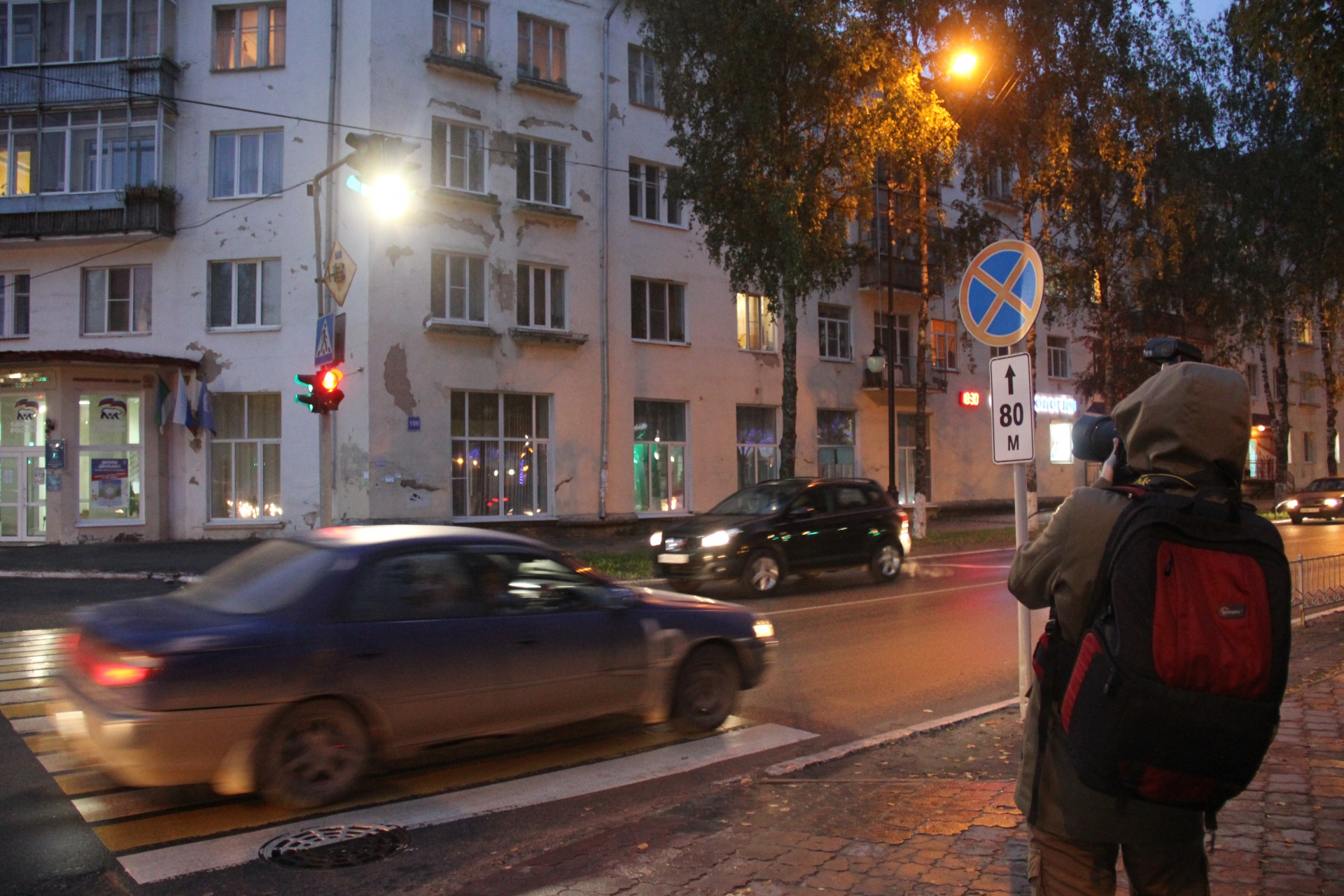 В Сыктывкаре устанавливают дополнительное освещение на пешеходных переходах