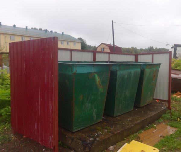 В селе Ыб установили восемь новых контейнерных площадок