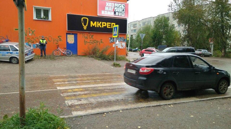 В Сыктывкаре водитель иномарки сбил мальчика с велосипедом