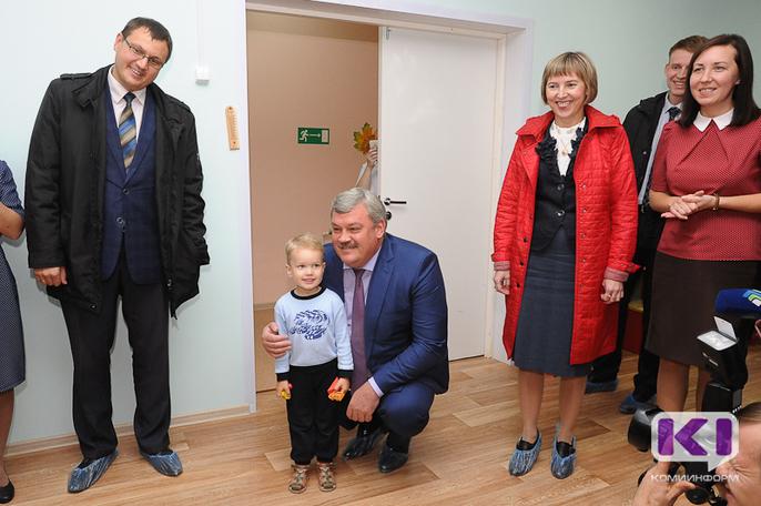 Глава Коми поздравил воспитанников усть-куломского детского сада с новосельем