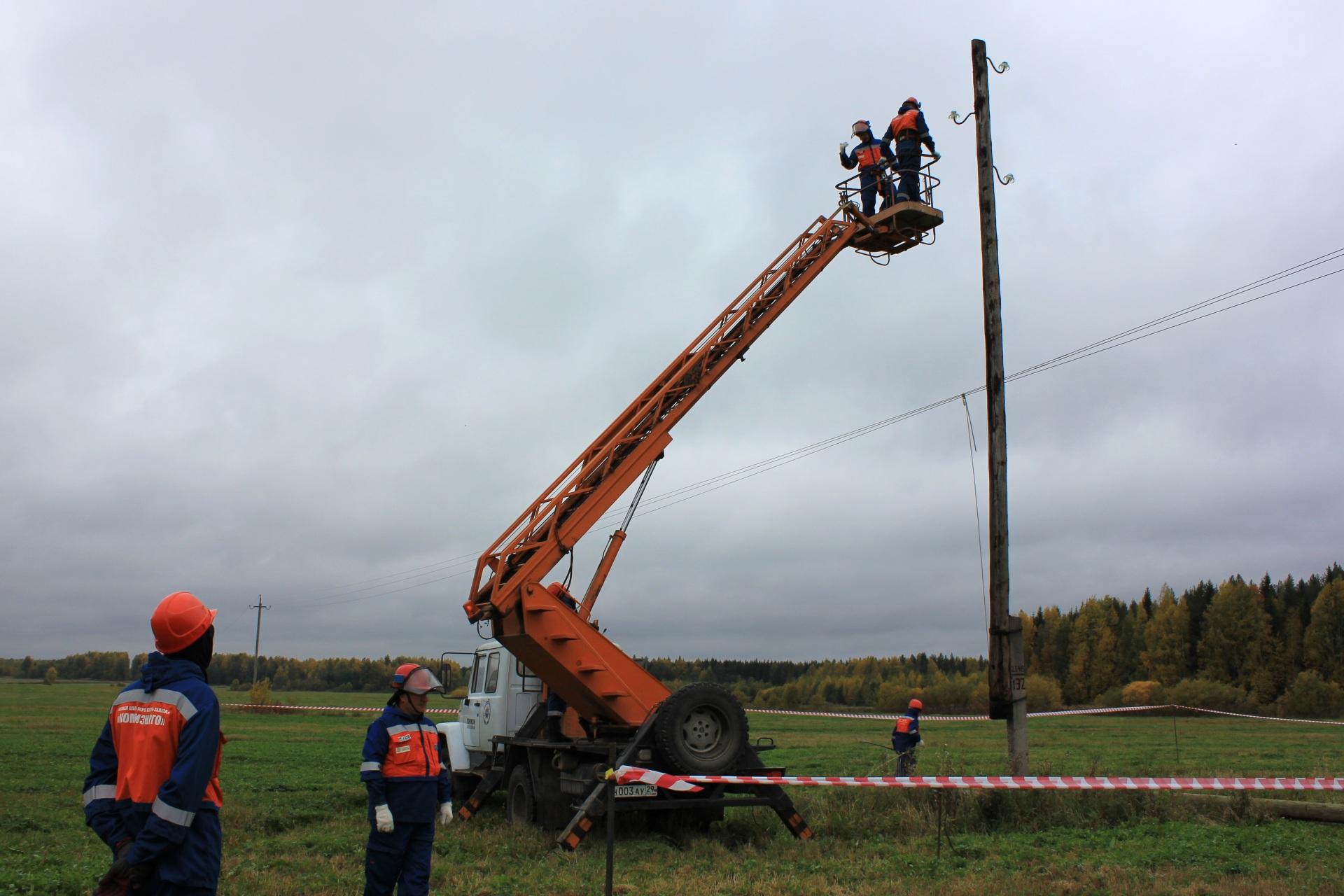 Комиэнерго завершает капитальный ремонт линии 10 кВ в Усть-Куломском районе