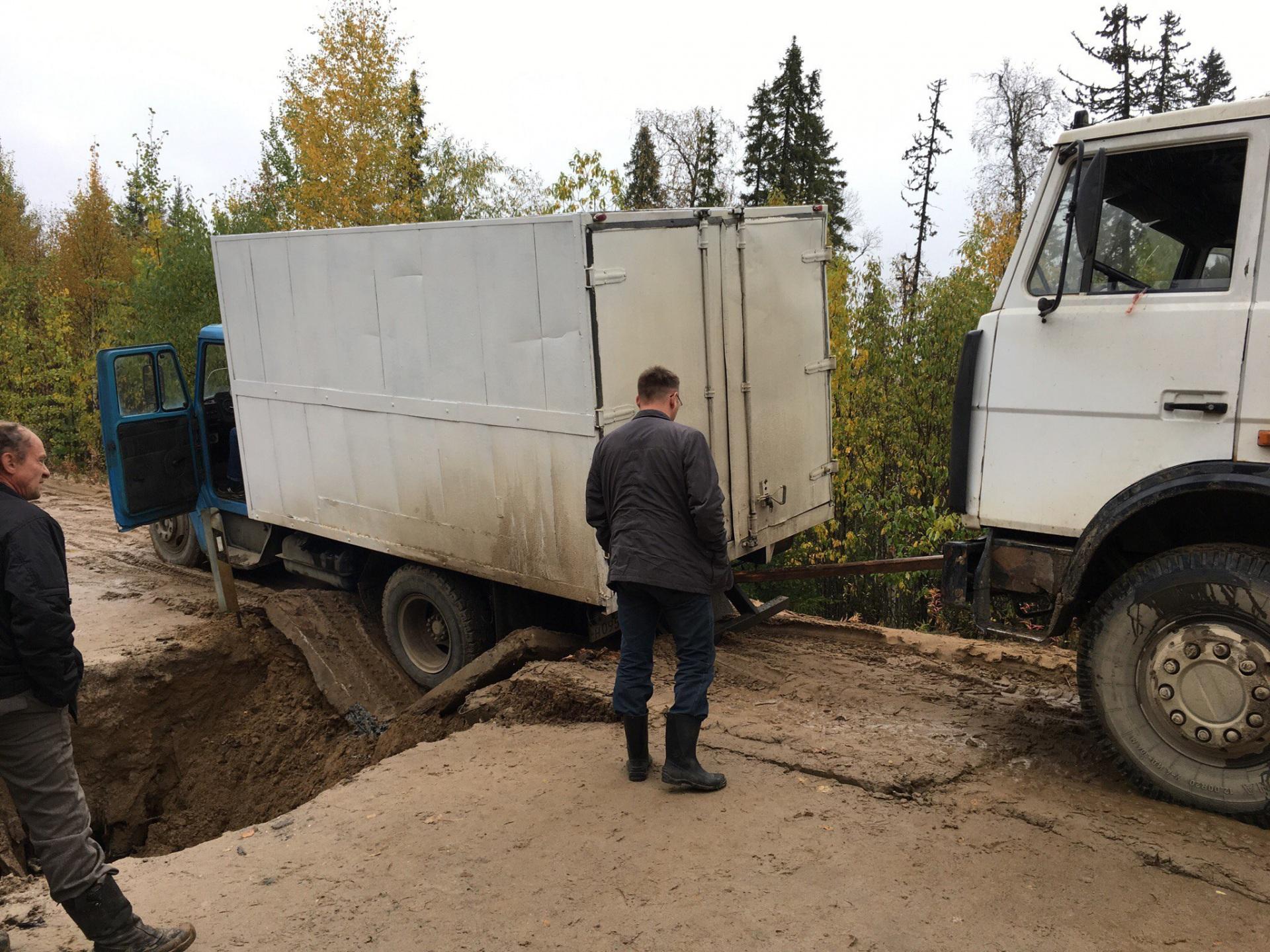Движение по зимнику в Удорском районе на участке Кослан – Айкино восстановлено
